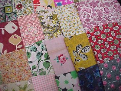 BEST 36 Prints Vintage Cotton Quilt Fabric 30s Scraps Remnants Crafts LOT