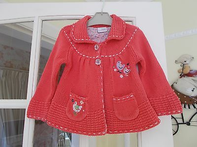 Girls Next Cotton Knitted Cardigan Sized At Age 1 & 1/2 - 2 Years = 18-24 Months