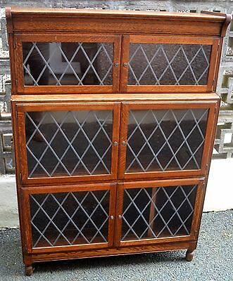 Classic Oak Stacking Bookcase With Leaded Glazed Doors By Minty Oxford