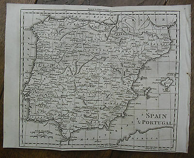 c1800, Spain & Portugal, Engraved by William Darton, Antique Map