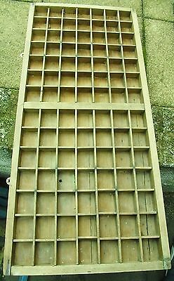 Print tray Old printers drawer wooden type case