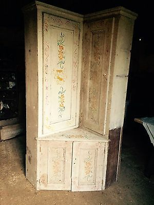 Large Antique Victorian / Georgian Oak Cupboard Larder Cupboard Rare Find