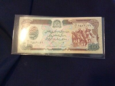 Rare Antique Bank Note 1939 Banknote AFGHANISTAN 500 Afghanis