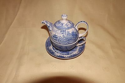 Past Times Blue & White Teapot for One
