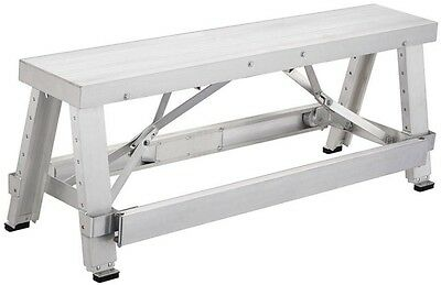 Drywall Bench 18 in. to 30 in. Adjustable Height Aluminum Portable Pentagon Tool
