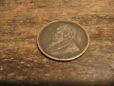 South Africa 1897 6 Pence Coin Z A R