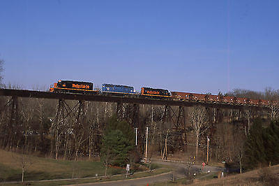 W&LE 6351 ON #711 RIVER STYX TRESTLE ACTION     Original Slide