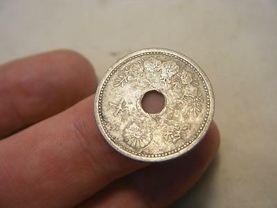 "Antique Japan/Japanese? Silver? Coin Hole in Middle 7/8"" diameter"