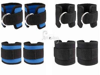Adjustable D-ring Ankle Weights Leg Wrist Strap Running Gym Training Exercise