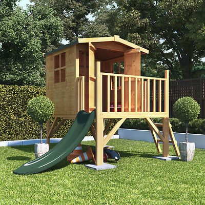 4x4 BillyOh Bunny Tower Childrens Wooden Playhouse Outdoor Playground with Slide