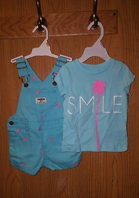 Girls 2 piece cotton set, ROMPER/SHIRT, PINEAPPLE, NWT. SZ 12 mo,  ADORABLE!