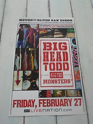 """BIG HEAD TODD Concert Poster MONSTERS San Diego HOUSE OF BLUES 11""""x17"""""""