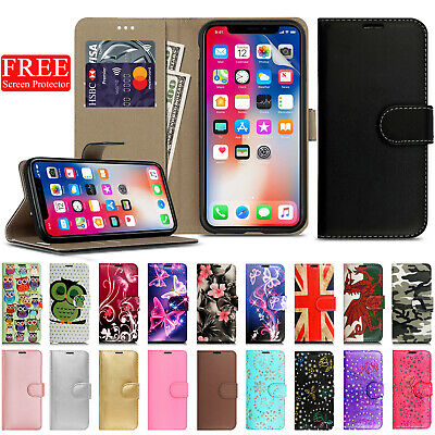 Printed Leather Magnetic Wallet Flip Phone Case for iPhone XR XS Max X 10 8 7 6s