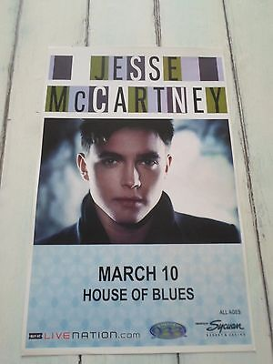 """JESSE MCCARTNEY Concert Poster San Diego HOUSE OF BLUES 11""""x17"""""""