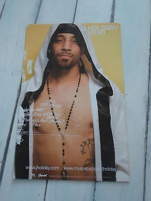 """J HOLIDAY Concert Poster ROUND 2 11""""x17"""""""