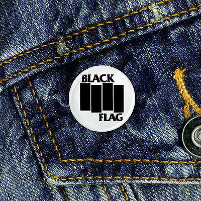 Black Flag Pin Button Badge 1 x 25mm Badge