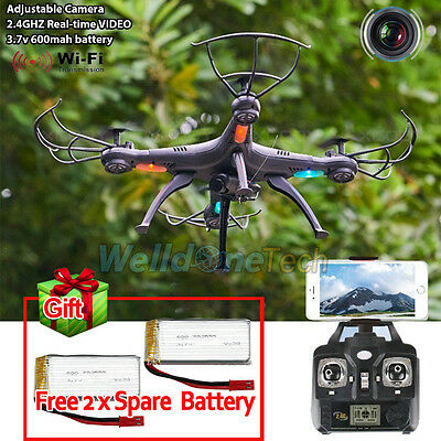 X5SW-1 Wifi FPV 2.4Ghz 4CH RC Drone Quadcopter with HD Camera RTF 6-axis Battery