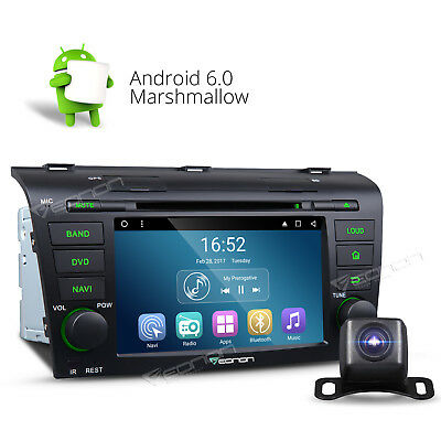 "Rear Camera 7"" Android 6.0 Car DVD Player Radio GPS Navigator WIFI for Mazda 3 F"