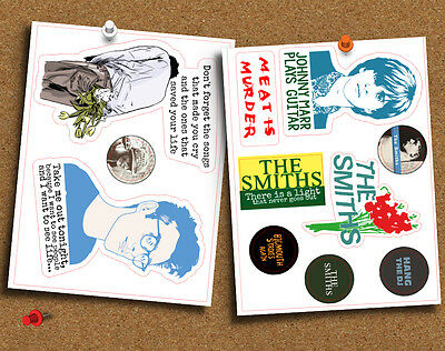 The Smiths Morrissey Set of 10 Die Cut Gloss Stickers, for Laptop, Planner etc