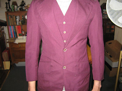 Vintage Retro 70's Australian Peter Shearer Purple (The Joker) Three Piece Suit