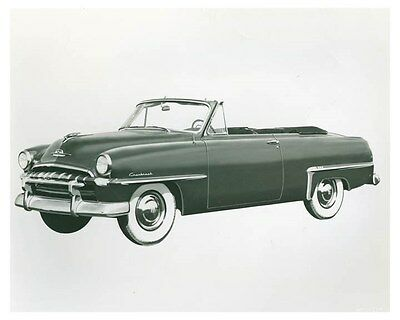 1953 Plymouth Convertible Coupe ORIGINAL Factory Photo och5808