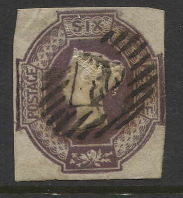 G.B.- 1847/54 QV  EMBOSSED 6d FOUR MARGINS USED  SG.58.  (REF.305)