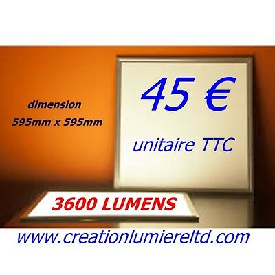 maison local     10 x panneau led encastrable 3600 lumens
