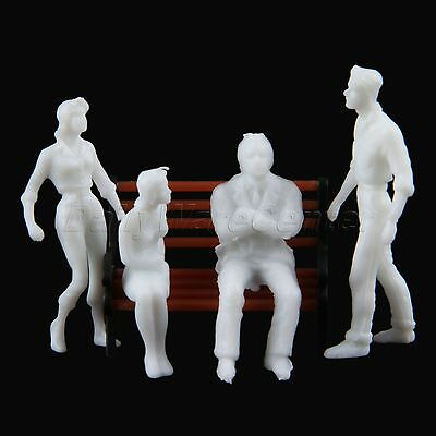 100x Assorted Poses People Sitting Figures Train Scenery 1:150 Scale Unpainted