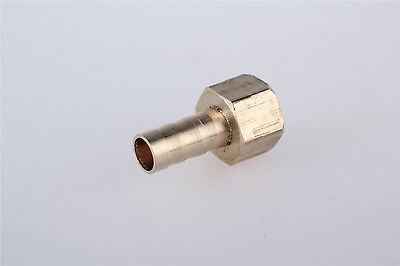 """5 Pcs 3/8""""PT Female Thread to 10mm Air Hose Barb Brass Straight Coupler Fitting"""