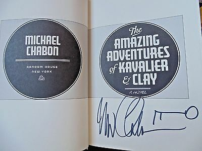 THE AMAZING ADVENTURES OF KAVALIER & CLAY by Michael Chabon ~ SIGNED+KEY 1st/1st