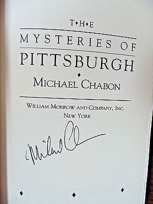 THE MYSTERIES OF PITTSBURGH by Michael Chabon (1988) SIGNED 1st Ed, 1st Printing