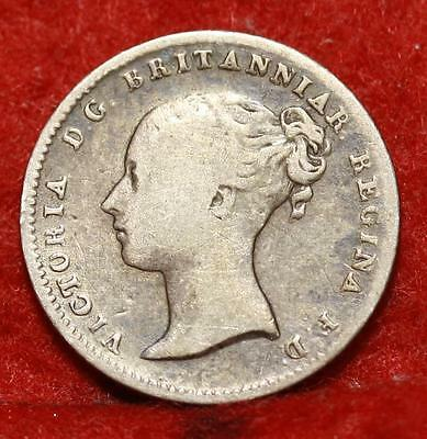 1838 Great Britain 4 Pence Silver Foreign Coin Free S/H