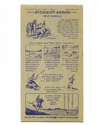 "NABISCO:  ""STRAIGHT  ARROW INJUN-UITIES""  ***SERIES #1***   CARD No. 23"