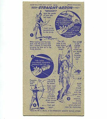 "NABISCO:  ""STRAIGHT  ARROW INJUN-UITIES""  ***SERIES #1***   CARD No. 18"