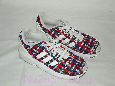 ADIDAS ZX Flux Red/White/Blue Sneakers Toddler Size 10