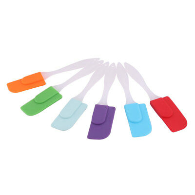 Home Bakery Silicone Cake Cream Butter DIY Baking Tool Spatula Scraper 6 Pcs