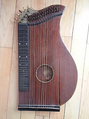 Antique 1800s George WASHBURN concert guitar ZITHER New Model Style 125, rare!