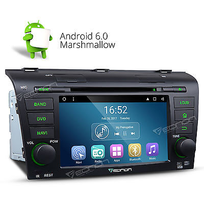 "US 7"" Android 6.0 Car DVD Player Stereo GPS Navi System Radio for Mazda3 04-09 A"