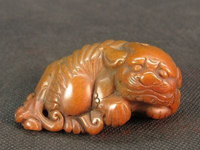 Chinese Lion Carved Shoushan Stone Seal Stamp Signet