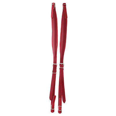 Pair of PU Leather Shoulder Hardness Straps for 16-120 Bass Accordion Red