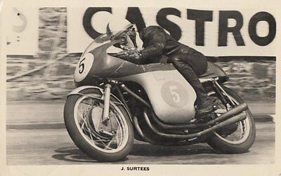 MOTOR CYCLE: John Surtees in action -Isle of Man RP-RANSCOMBE BROS