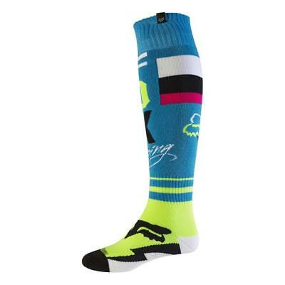 Fox 2017 Herren Motocross / MTB Socken - FRI ROHR THIN - teal Motocross Enduro M