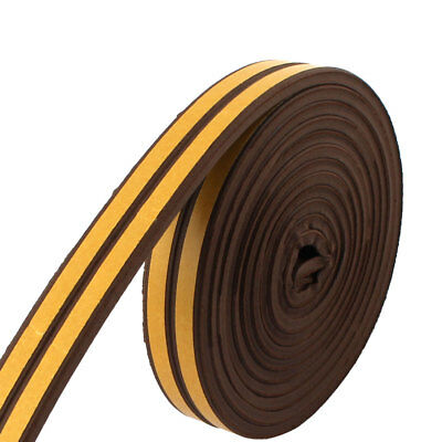 Rubber Sealing Sticker Seal Protector Adhesive Guard Strip Brown 8.2ft Long