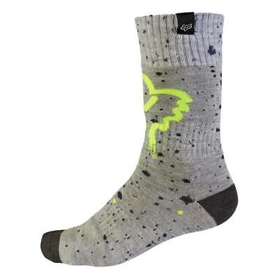 Fox 2017 Kinder Motocross / MTB Socken - MX NIRV - grau-gelb Motocross Enduro MX
