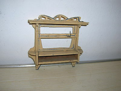 Altes Puppenstuben Jugendstil Wangregal Board - um 1910