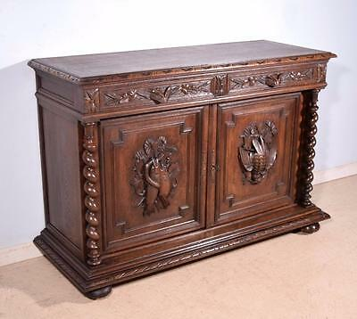 *French Antique Black Forest/Hunting Sideboard/Buffet with Deep Carvings
