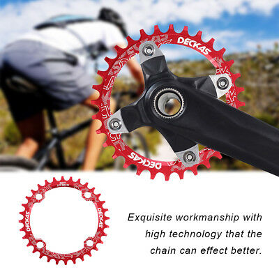 DECKAS Narrow Wide Bike MTB Round Oval Chainring Chain Ring Single Plate XRAZ
