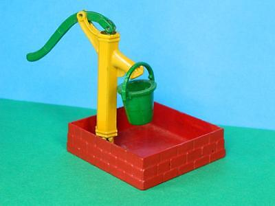 Dcmt Crescent Diecast Farm Series Square Water Well Pump & Bucket Like Britains