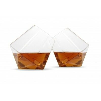 Thumbs Up! Diamond Whisky Glasses Set of 2 Brand New