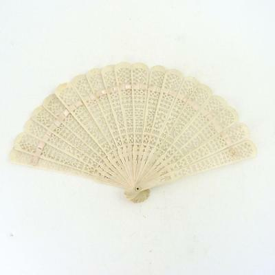 Chinese Canton Brise Hand Fan, 19Th Century